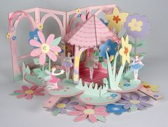 Beautiful Fairy Wishes Birthday Party Cake Stand Garland and Pop Up Centerpiece | eBay