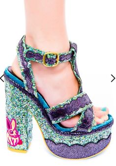 IRREGULAR CHOICE   Toffee Splatter Platform Heels   #toffee #glitter #sparkle #irregular #women #heel #shoes