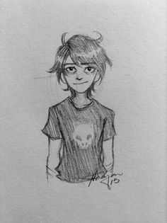 """peculiarkiha: """"it's sort of become a tradition to draw nico every time i get a new mechanical pencil my son i havent drawn him in a while """""""