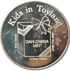The 1985 Kids In Toyland Christmas 1 oz silver art round 999 pure is available at Gainesville Coins. These silver rounds make perfect holiday gifts. Toys Land, Silver Rounds, 1 Oz, Holiday Gifts, Mint, Pure Products, Personalized Items, Christmas, Yule