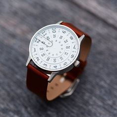 Watch - T1.1 Watch Smoke/Alabaster With Bourbon http://www.thesterlingsilver.com/product/downj-mens-stainless-steel-sapphire-waterproof-mechanical-analog-tourbillion-watches-men/