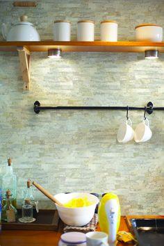 #Fachaletas en las paredes de la #cocina #Corona inspira