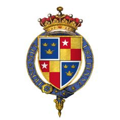 Arms of Sir Robert de Vere, as 9th Earl of Oxford, upon his installation to the Most Noble Order of the Garter