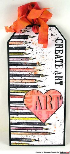 Tag by Suzanne Czosek using Darkroom Door Pencils Eclectic Stamp, Heart Stencil Set and Creativity Stencil Paint Splats, Heart Stencil, Solid Shapes, Paint Tubes, Distress Oxide Ink, Drip Painting, Pen And Watercolor, Small Heart, Mail Art