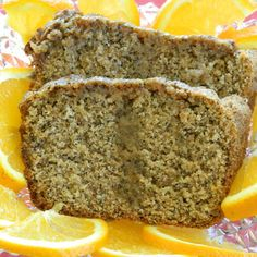 Orange Poppy Seed Bread {vegan} to try using coconut milk, chia instead of flax, no sugar and gf flour