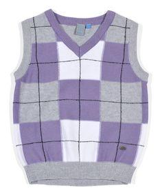 Purple Plaid Sweater Vest - Infant, Toddler & Boys