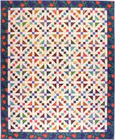 Buckeye Beauty, from book Among Friends - More Scrap Quilts, by Brenda Henning