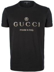 Gucci Studded Logo Tshirt in Black for Men