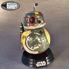 BB-8 and Boba Fett mashup (BB-FETT) custom Funko POP! from Star Wars