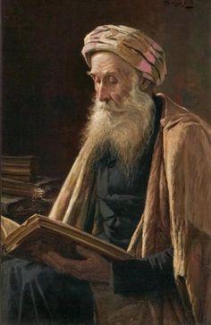 Prechenfried, Alois Heinrich (b,1867)- Man Reading, Inside