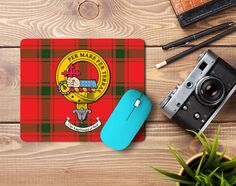 Rubber Mousemat with MacDonald of Sleat clan crest and tartan - only from ScotClans