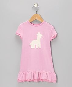 Take a look at this Rosie Giraffe Organic Ruffle Dress - Infant & Toddler on zulily today!