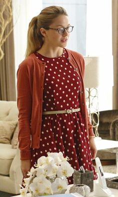 Maison Jules Fit & Flare Polka-Dot Dress as seen on Kara Danvers/Supergirl in Fight or Flight | TheTake