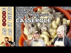 This Crock Pot Cheesy Beefy Mac Casserole recipe takes a recipe the kids will love and kick it up a notch for the adults to love too! Multi Cooker Recipes, Slow Cooker Recipes, Crockpot Recipes, Cooking Recipes, Pasta Recipes, Cooking Fresh Green Beans, Easy Casserole Recipes, Bean Casserole, Crock Pot Desserts