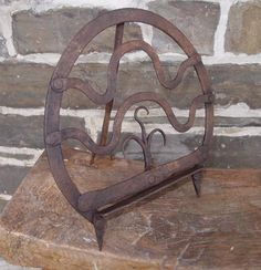 18th Century wrought iron Scottish Broiler 10 1/4 X 10 1/8""