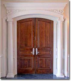 Custom cypress doors with oak park glass installed fine - Solid core interior doors dallas ...