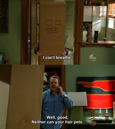 Modern Family, Lilly got lice and Cam treated her like an animal hahaha