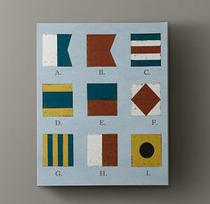 Could do this but with solid color blocks. matted in a frame?