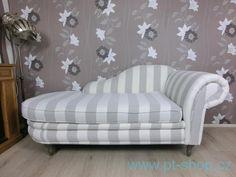 Pohovky, gauče, lenošky | (1311) CHALET RECAMIERE - Pruhovaná lenoška | Designový nabytek