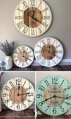 ee3c06b12f3 16 Inch Farmhouse Clock - Small Rustic Wall Clock - Unique Wall Clock -  Personalized Clock