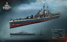 #cruiser #des_moines #navy Крейсер типа «Де Мойн». Техрендер из игры World of Warships/ Des Moines-class cruiser. Technical render from the World of Warships alpha   http://wiki.wargaming.net/ru/Navy:Крейсер