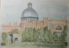 El resultado final. Escuela Tecnica Superior de Ingenieros Industriales, Universidad Politécnica de Madrid, en el Paseo  de La Castellana.