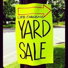 intriguing yard sale sign in the hamptons hamptons michaelaram