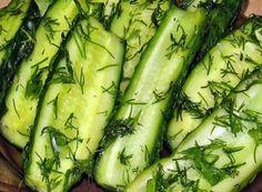 Nejlepší recepty na zavařené okurky | NejRecept.cz Tzatziki, New Recipes, Zucchini, Grilling, Salads, Appetizers, Food And Drink, Menu, Dishes