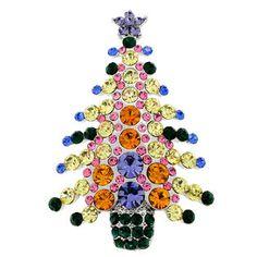 Fantasyard MultiColor Christmas Tree Crystal Pin Brooch at Sears.com