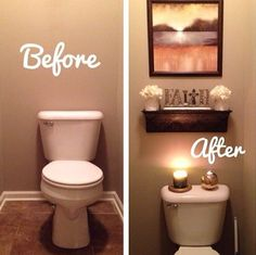Awesome Before And After Bathroom. Apartment Bathroom