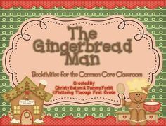 The Gingerbread Man ~ Booktivities for the Common Core Classroom $5
