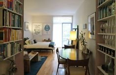 As minimalists, everything we own is inside this 400sf apartment in the Apartment Therapy Small Cool Contest.