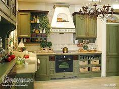 зеленая кухня из дерева - Поиск в Google