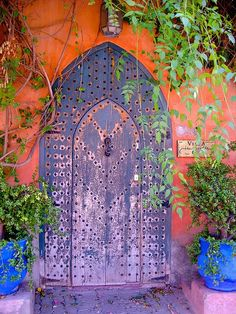 Purple Moroccan Door