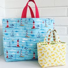 Ideas sewing gifts diy tote bags for 2019 Bag Patterns To Sew, Tote Pattern, Sewing Patterns Free, Easy Tote Bag Pattern Free, Wallet Pattern, Sewing Blogs, Sewing Tutorials, Sewing Crafts, Sewing Tips