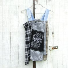 handmade fashion - Upcycled clothing / Funky Six Flags Dress or Tunic by CreoleSha, $87.99