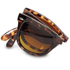 60e09db5b0 The Folding Clarity Enhancing Sunglasses - Hammacher Schlemmer Gadgets And  Gizmos