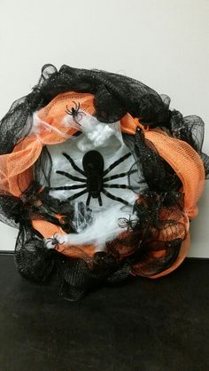 Spider wreath I made and am selling message me for details