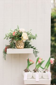Decorative flower vases: http://www.stylemepretty.com/living/2016/04/20/the-secret-to-a-killer-party-dessert/ | Photography: Valorie Darling - http://valoriedarlingphotography.com/