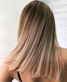 Ombre hair balayage Haare liso 58 Super Hot Long Bob Hairstyle Ideas That Make You Want To Chop Your Hair Right Now Hair Color Balayage, Blonde Balayage, Hair Highlights, Balayage On Short Hair, Balayage Hair Light Brown, Brown Blonde Hair, Dark Hair, Blonde Asian, Beige Blonde