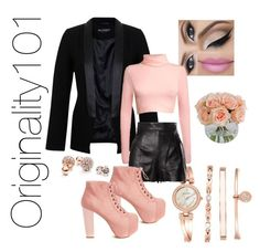 """""""Untitled #71"""" by originality101 on Polyvore featuring GUESS, Miss Selfridge, Pilot, Anne Klein, Moschino and Jeffrey Campbell"""