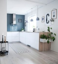 what a lovely kitchen! Ferm Living Plant Box available at www.istome.co.uk