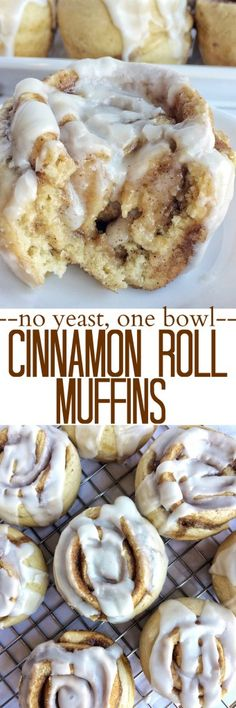 No yeast and one bowl is all you need for cinnamon roll muffins. Everything you … No yeast and one bowl is all you need for cinnamon roll muffins. Everything you love about a classic cinnamon roll but in muffin form! Just Desserts, Delicious Desserts, Dessert Recipes, Yummy Food, Delicious Cupcakes, Think Food, Love Food, Cinnamon Roll Muffins, No Yeast Cinnamon Rolls