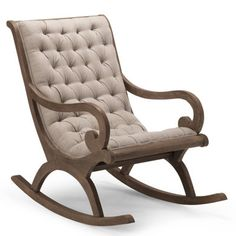 Grayson Rocker$499      Open-grained, mango-wood construction     Natural antique finish     Hand-tufted, polyester-filled cushion