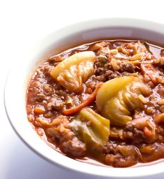 Unstuffed Cabbage Roll Soup