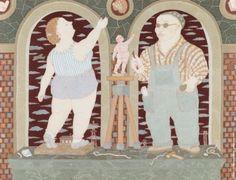 """http://shop.erarta.com/ru/shop/catalogue/pictures/detail/Y120417003/ Ольга Субботина. из серии """"Парад"""": """"Двойной портрет в интерьере"""" #art #contemporary #erarta"""