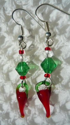 hungarian hot paprika /only green and red glass beads