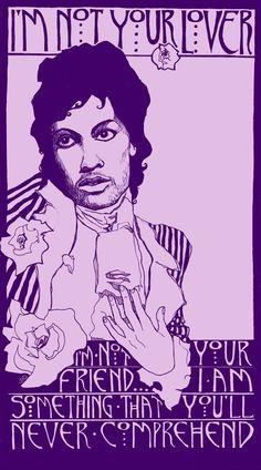 Homage to Prince & Purple Rain Poster by Corina Dross