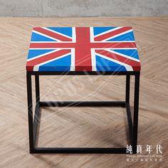 【OPUS LOFT】復古工業風 手繪 英國國旗 茶几桌手繪的線條,為剛硬的外型帶入柔軟的元素