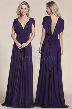 Do you think I should buy it? Multiway Bridesmaid Dress, Infinity Dress Bridesmaid, Long Bridesmaid Dresses, Prom Dresses, Bridesmaids, Infinity Dress Ways To Wear, Infinity Dress Styles, Infinity Dress Tutorial, Purple Evening Dress